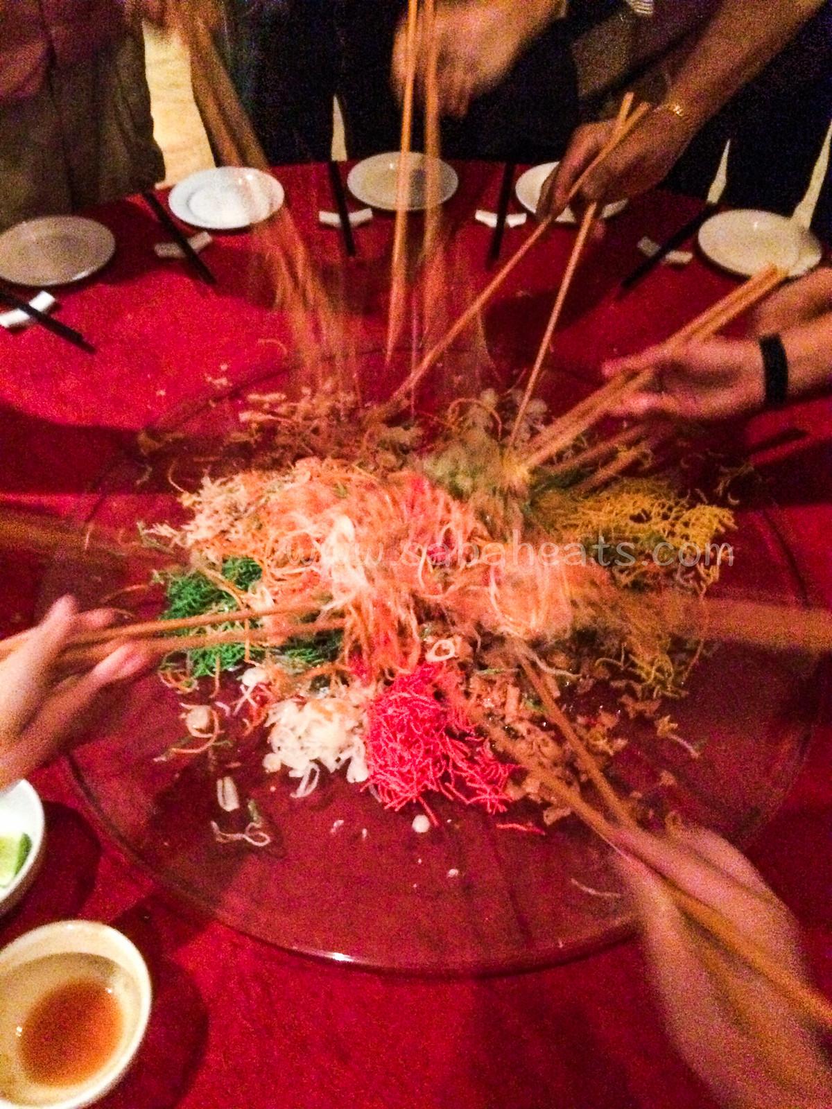 Le Meridien Kota Kinabalu Yee Sang and Chef Lum Special