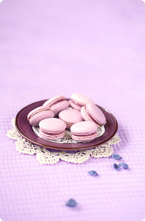 Violet Blueberry Macarons