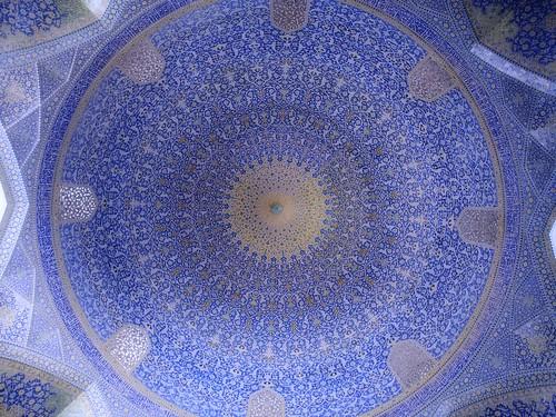 blue art iran islam prayer middleeast persia dome isfahan safavid imammosque shahmosque