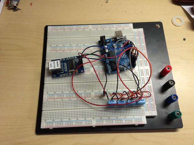 The project using an Arduino Uno
