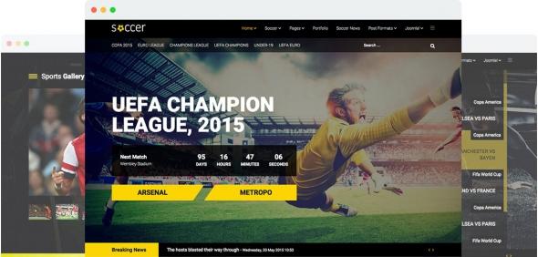 Soccer v1.4 - Sport Team Clubs Joomla 3.x Template