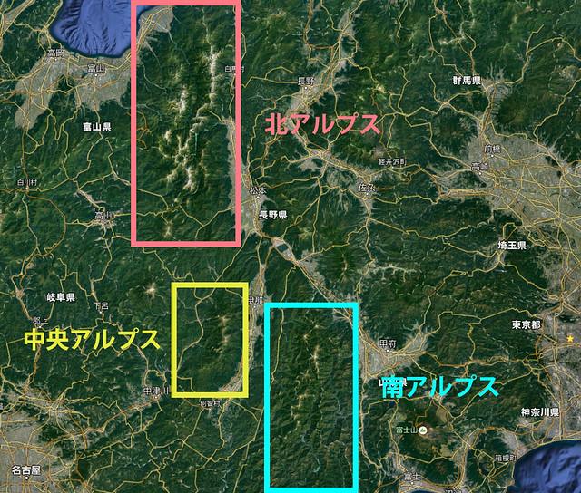 日本アルプスについて