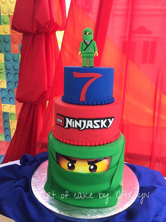 Ninjago Themed Cake by Gerelyn A. Bathan of Art Of Cake by Gerelyn