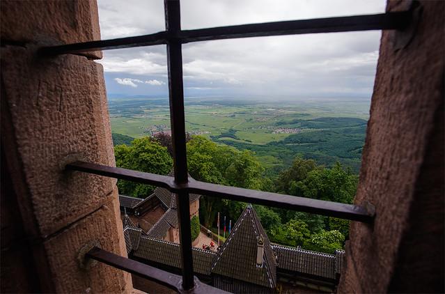 Alsace via Château du Haut-Kœnigsbourg