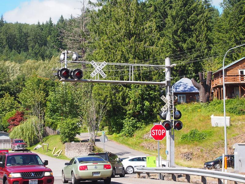 Mount Rainier Scenic Railroad Crossing