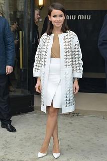 Miroslava Duma White Pumps Celebrity Style Women's Fashion