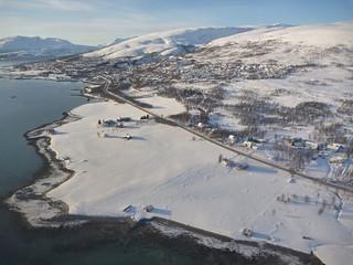 L'île de Kvaloya, près de Tromso