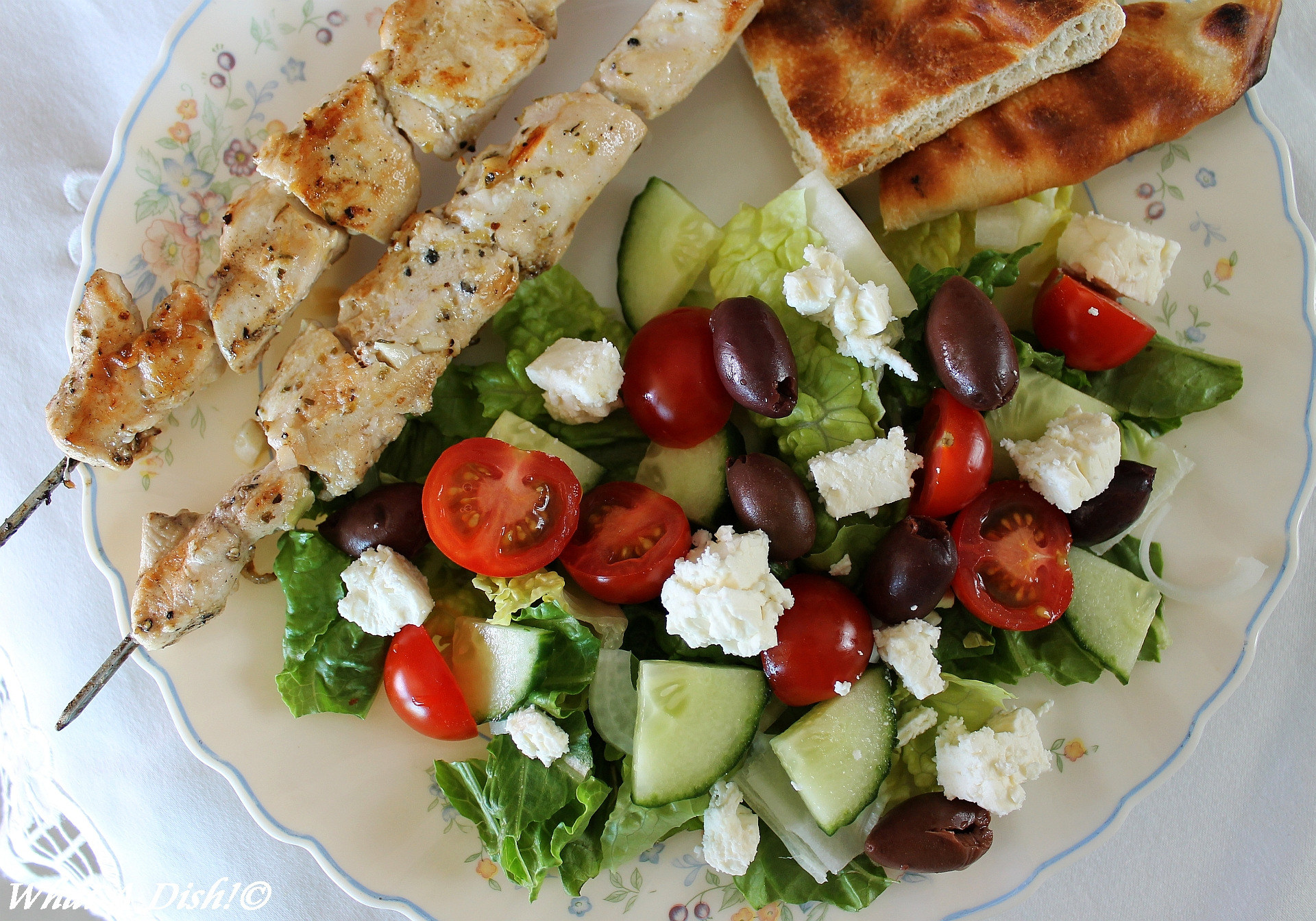 What A Dish!: Chicken Souvlaki Salad