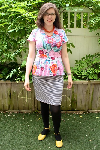 Cake Patterns Hummingbird Peplum Top—in hummingbird colors