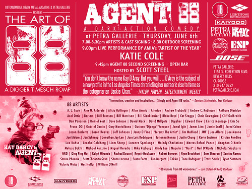 AGENT 88 :: THE ART OF 88, FINAL PETRA SCREENING w/ KATIE COLE (( June 6, 2013 ))