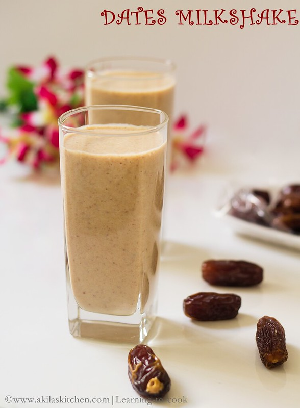 How to make dates milkshake recipe