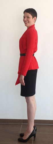 Red cardigan - side 3