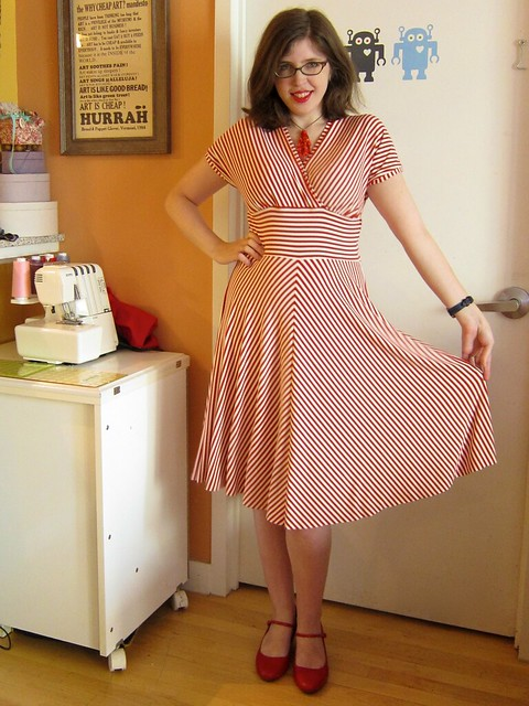 Cake Patterns Tiramisu Knit Dress in Candy Stripes