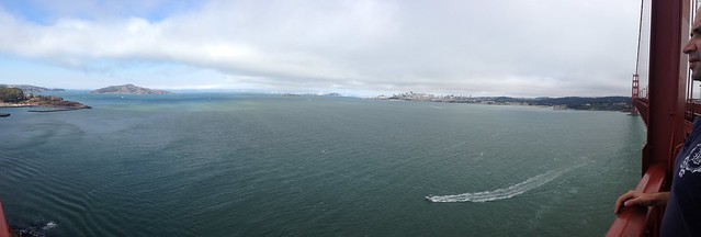 The view from the Golden Gate Bridge.