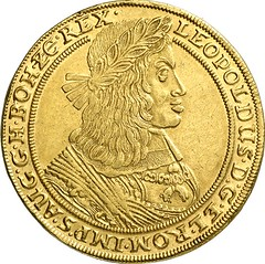 05663a Holy Roman Empire. Leopold I, 1657-1705. 10 ducats 1663