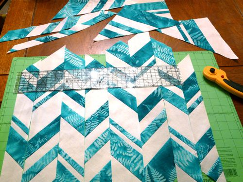 Haphazard Chevron Pillow adventure
