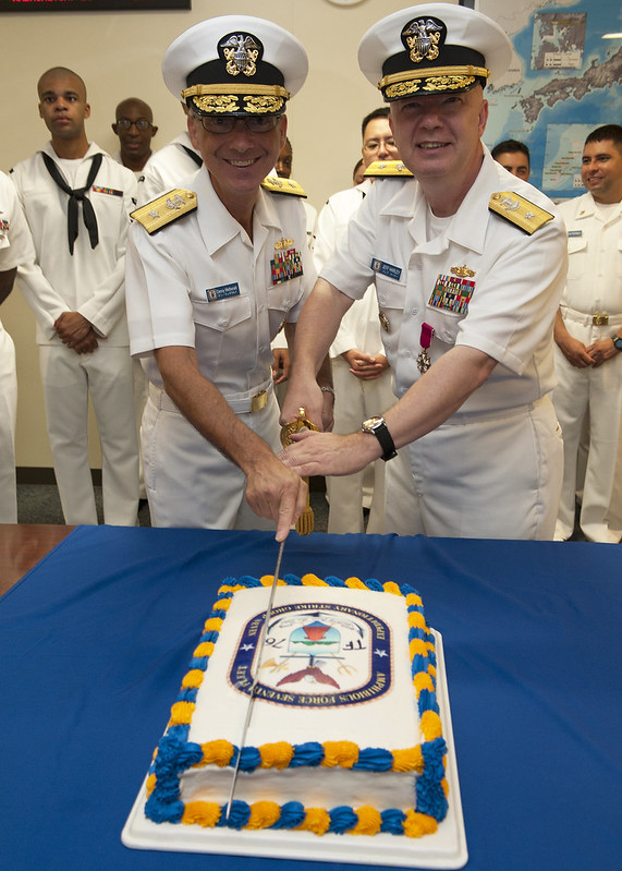 WHITE BEACH, Okinawa - In a ceremony at command headquarters, Rear Adm. Hugh D. Wetherald relieved Rear Adm. Jeffrey A. Harley as Commander, Amphibious Force, U.S. Seventh Fleet.