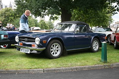 automobile, vehicle, performance car, antique car, classic car, vintage car, land vehicle, triumph tr6, sports car,