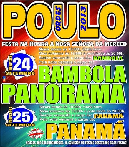 Ordes 2013 - Festas da Merced en Poulo - cartel