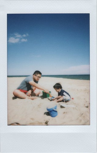 Playing in the Sand with Daddy