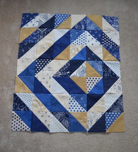 First quilt top