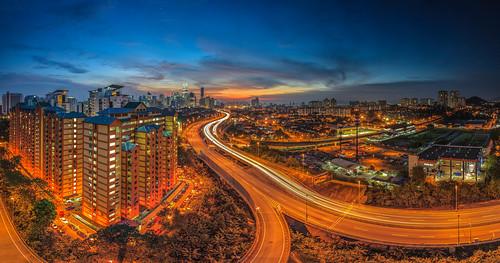 canon cityscape kualalumpur singleexposure lightrails 5dmarkii 1635f28mk2