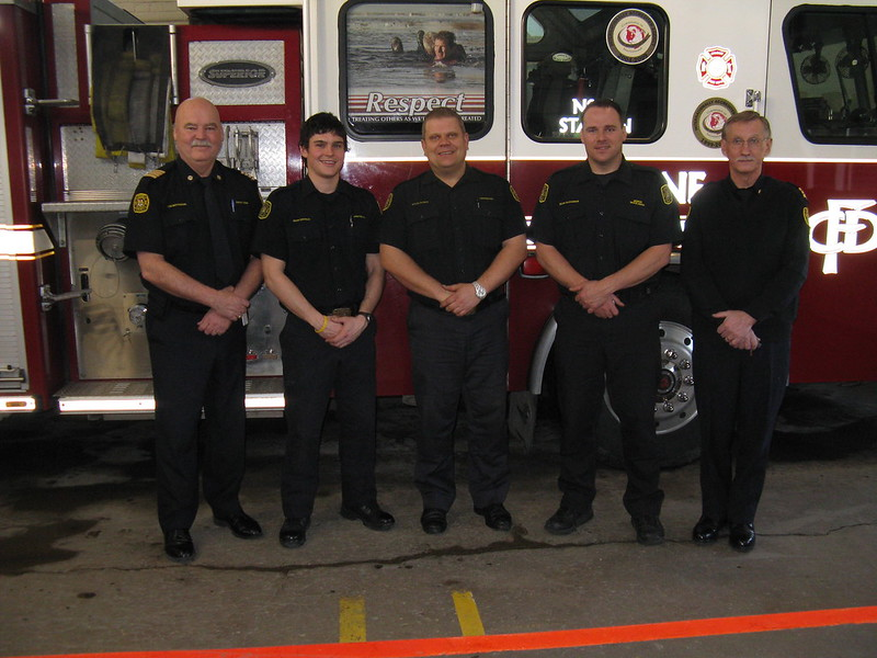 Sean Crowley (2nd from left) - WFRS Co-op Student now Calgary Firefighter
