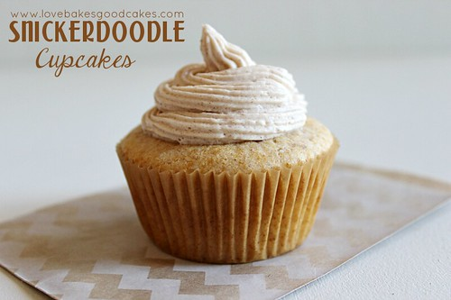 Snickerdoodle Cupcake close up.