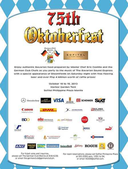 75th Oktoberfest with Sofitel Philippine Plaza Manila & the German Club Manila