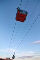 sailing(0.0), sports(0.0), parasailing(0.0), windsports(0.0), extreme sport(0.0), toy(0.0), cable car(1.0),
