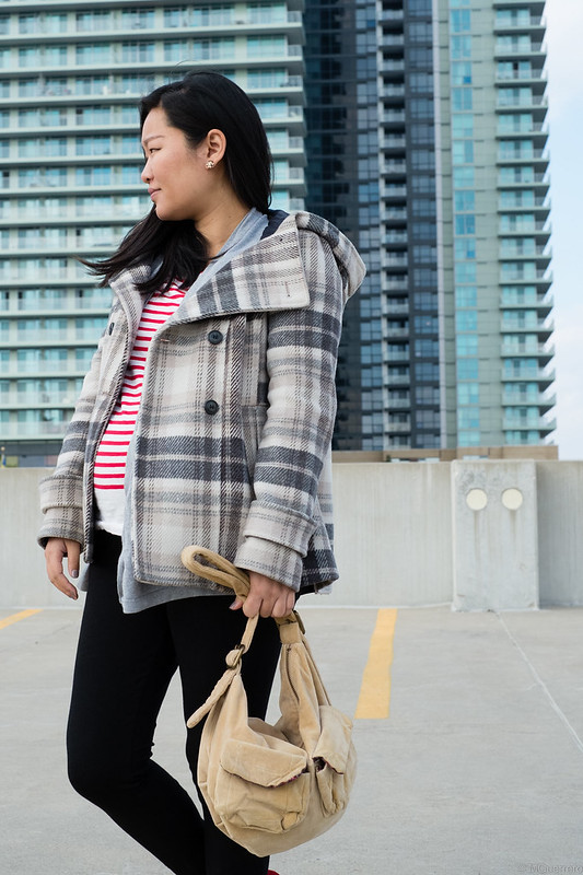 Zara Plaid coat, Zara checked coat, Zara cape plaid coat with hood