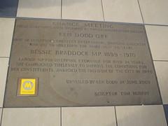 Photo of Bessie Braddock and Ken Dodd bronze plaque