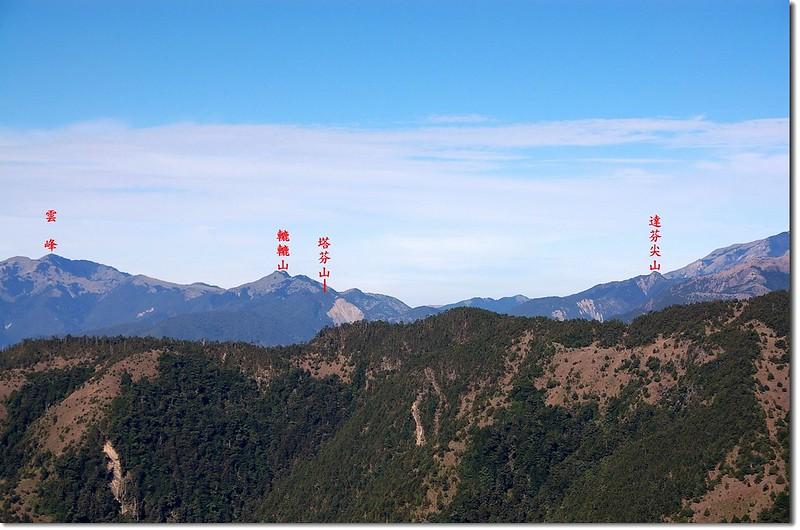 南二段群峰(From 馬西山徑西南眺) 4-1