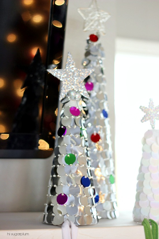 Hi Sugarplum | Colorful Christmas Mantels