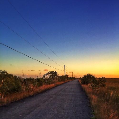 road sunset everglades uploaded:by=flickrmobile flickriosapp:filter=nofilter chekikaevergladesnationalpark