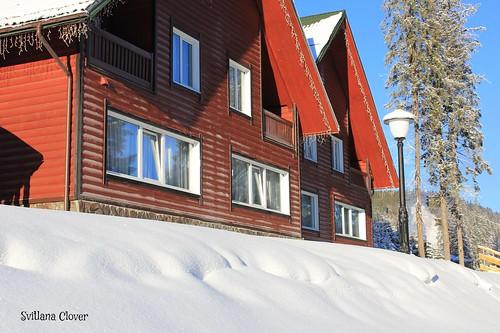"Mountain ski resort ""Bukovel"". Carpathian Mountains. Ukraine."
