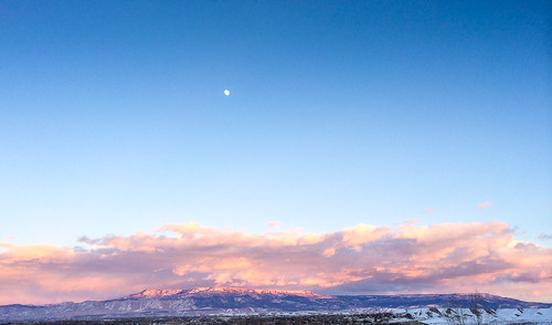 Sunset over Grand Mesa