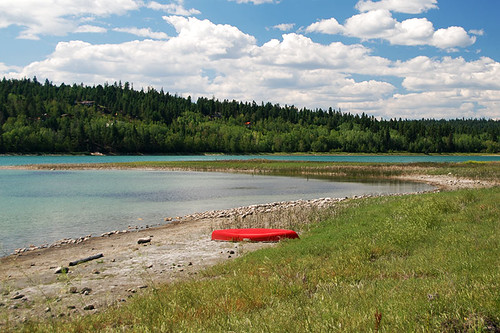 108 Mile Lake in 108 Mile Ranch, Highway 97, Cariboo, British Columbia, Canada