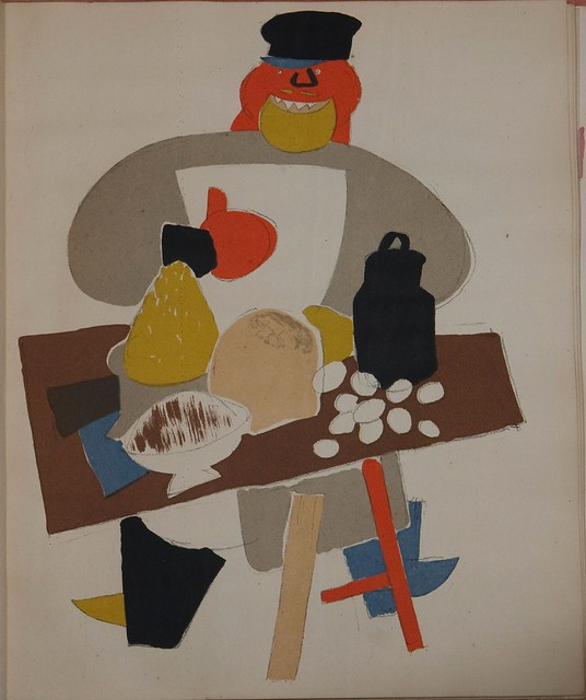 Russian placards, 1917-1922 (Vladimir Lebedev) - A marauder at a stall with wares (the struggle against sale in the streets)