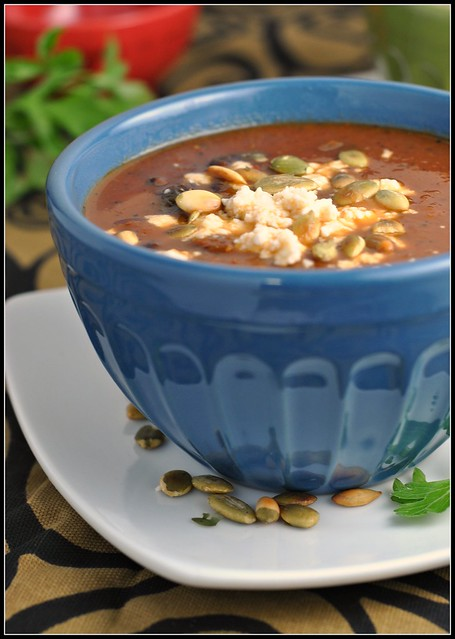 Black Bean Soup with Roasted Poblano Chiles 4