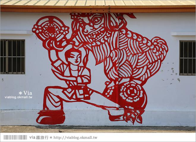 【虎尾彩虹村】虎尾剪紙藝術村~喜氣!年節味十足的彩繪藝術村23