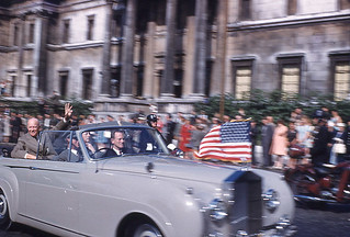 Eisenhower visiting Britain, 1959