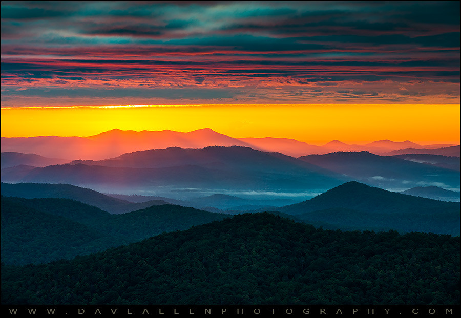 North Carolina Blue Ridge Parkway Morning Majesty