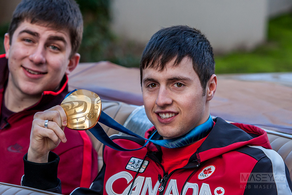 Vancouver Olympic gold medalist Alex Bilodeau.