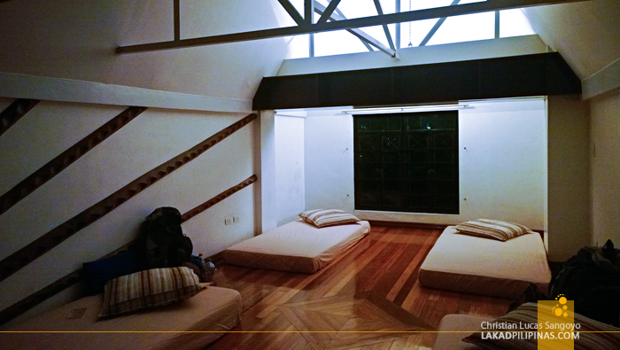 Loft Space at Manila's Red Carabao Hostel