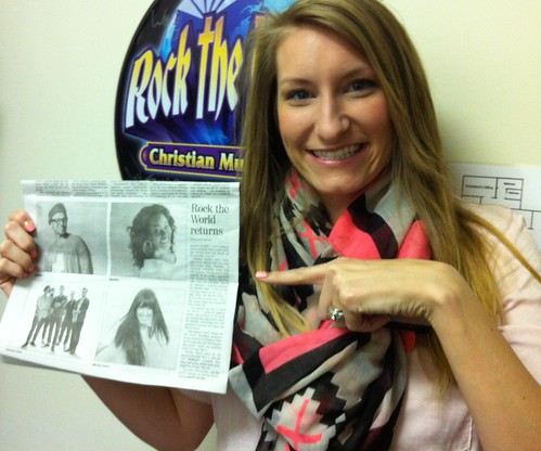 Special Events Manager Ashley with Rock the World coverage