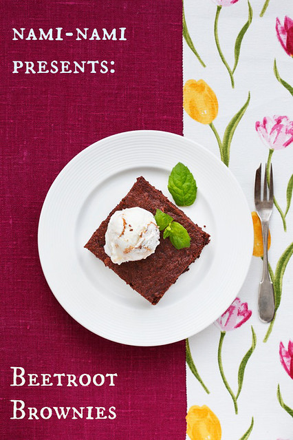 Beetroot brownies.