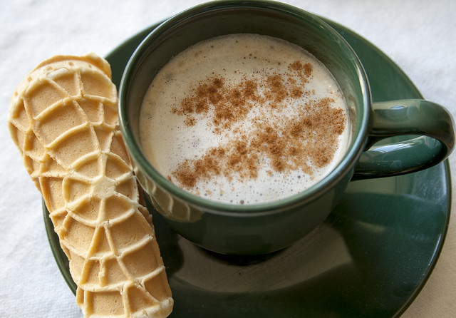 pizzelle and cappuccino