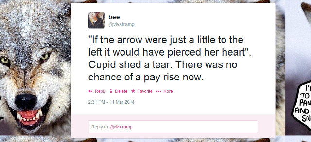cupid twitter fiction