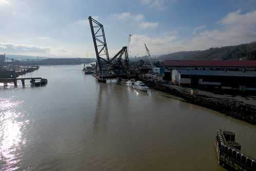 Duwamish river is muddy from the recent excessive rainfall